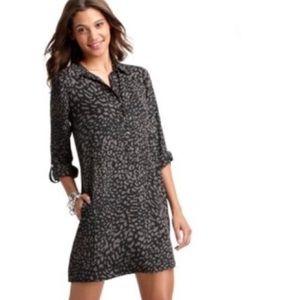 LOFT Animal Print Shirt Dress With Pockets